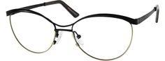 Women's Black 6516 Metal Alloy Full-Rim Frame with Stainless Steel Temples and Spring Hinges | Zenni Optical Glasses-vq5p3hGd