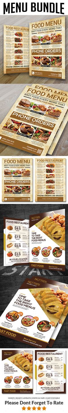 318 Best Menu Templates images Food menu template, Menu templates