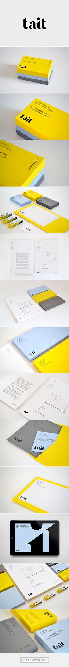 Tait on Behance - created via http://pinthemall.net | #cards #namecards | For more inspirations @faridbalian
