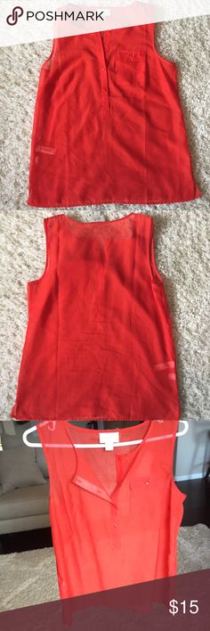 Ann Taylor Loft burning red top. 12 or 🎉4/40🎉 Ann Taylor Loft burning red top size small. front: polyester back: silk LOFT Tops