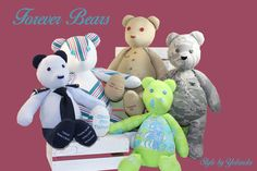 This are amazing products from NEtime Designs. Bears that take your personal fabric and make a sentimental keepsake. I love mine that's made from my grandfathers work shirt. Order them on their Facebook page https://www.facebook.com/NEtimeDesigns/