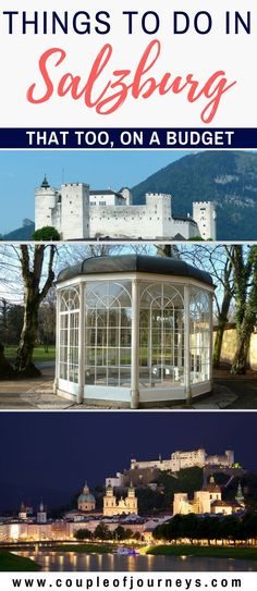 Salzburg is a beautiful city with lots of things to do. In this article, I share with you my top picks of things to do in Salzburg and that too on a budget. Read more at http://coupleofjourneys.com/things-to-do-in-salzburg/ Salzburg | Things to do | Travel Tips