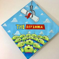 , Absolute FIRE Grad Cap Ideas You'll Want to Copy ASAP , All the best graduation cap ideas for college students this year. Over 35 amazing ideas to inspire your own cap decoration! Included are funny, quotes. Disney Graduation Cap, Funny Graduation Caps, Custom Graduation Caps, Graduation Cap Toppers, Graduation Cap Designs, Graduation Cap Decoration, Graduation Diy, Decorated Graduation Caps, Funny Grad Cap Ideas