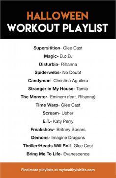 Halloween workout playlist