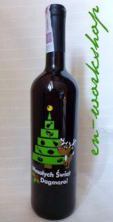 Święta - prezenty Red Wine, Alcoholic Drinks, Bottle, Glass, Drinkware, Flask, Corning Glass, Liquor Drinks, Alcoholic Beverages