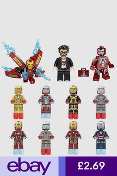 New Lego Marvel Super Heroes Infinity War Minifigure Iron Man Tony Stark Thanos Ms Marvel, Chibi Marvel, Thanos Marvel, Lego Marvel Super Heroes, Lego Thanos, Xmen, Marvel Comics, Disney Minifigures, Lego Custom Minifigures