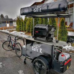 Coffee Cart by BizzOnWheels  #coffeecart #coffeebike #BizzOnWheels