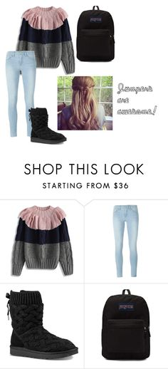 """""""Jumpers are awesome!"""" by benjiedaisy ❤ liked on Polyvore featuring Chicwish, Frame Denim, UGG and JanSport"""