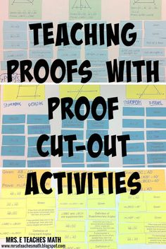 Teaching Geometry Proofs with Cut-Out Activities | mrseteachesmath.blogspot.com