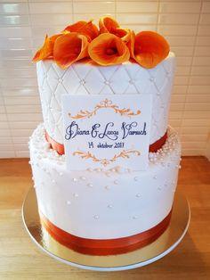 Höstig bröllopstårta med mangokallor | Cakes!