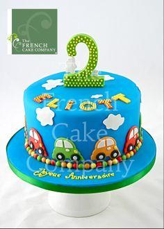 Cake for toddlers - Gateau D'anniversairre Pour Enfants Voitures - Verjaardagstaart