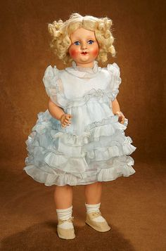 "Tears for Mina - March 17-18, 2018 at the Hyatt Coconut Point, Naples, FL: 407 Grand French Character Doll, ""Bebe Capi"" in the Shirley Temple Manner in Original Box"
