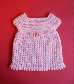 Starting Out Crochet Baby Dress By Marianna Mel - Free Crochet Pattern - (ravelry)