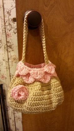 #Crochet handbag purse #TUTORIAL Crochet purse idea. crochet project.