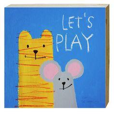 Cuadro Let's Play. Medidas: 20 x 20 cm. Artista: The Catman.