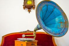 Old Gramophone by microThread.deviantart.com on @DeviantArt