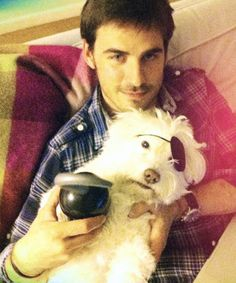 Photo of Colin O'Donoghue & his  Dog Buckley