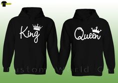 7ed0706f923c6 Couple Hoodie - King And Queen His and Hers - New Design Couple Matching  Hoodie