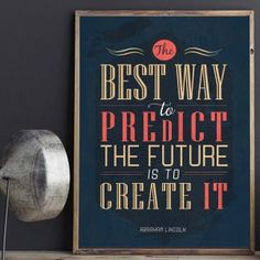 """Best way to predict the future is to create it"" Printable - spoonyprint Letter Board, Motivational, Poster Prints, Printables, Create, Inspirational, Future, Printed, Digital"