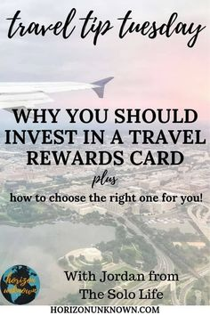 Travel Tip Tuesday #3 - Why every traveler should invest in a travel rewards card.  .  #horizonunknown #travelcreditcard #traveler #traveltip #tipsfortravel #freetravel   #travel #rewardcard #travelreward #creditcard #travelcredit Travel Rewards, Travel Advise, Free Travel, Budget Travel, International Travel Tips, Rewards Credit Cards, Travel Inspiration, Investing, Tuesday