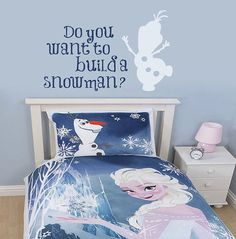 frozen bedroom | … Frozen bedroom decor, inspired by the Disney movie Frozen, about two