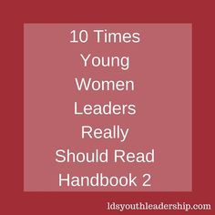 10 Times Young Women Leaders Really Should Read Handbook 2