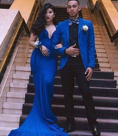 Royal Blue Men Suits for Mens Wedding Suits Groom Tuxedo Custom Made Groomsmen Blazer Prom Party Costume Homme Slim Terno Masculino Blue Mermaid Prom Dress, Prom Dresses Blue, Mermaid Dresses, Sexy Dresses, Evening Dresses, Prom Tuxedo, Prom Couples, Prom Poses, Prom Outfits