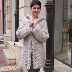 Ravelry: Very Winter hooded cardigan pattern by Accessorise $5.50