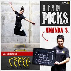 Need help landing your Triple Salchow? SKLZ Team Member Amanda S. recommends training with the Speed Hurdles. #iceskating #pintowin #sklz