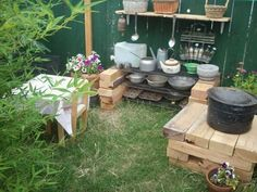 20 mud kitchen ideas   1001 Gardens