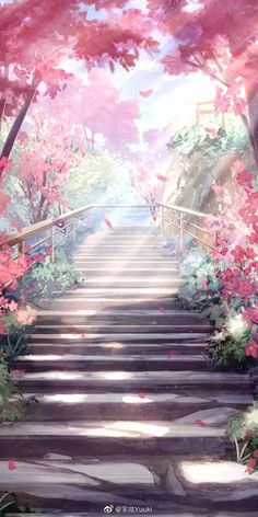 Anime Backgrounds Wallpapers, Anime Scenery Wallpaper, Landscape Wallpaper, Pretty Wallpapers, Animes Wallpapers, Fantasy Art Landscapes, Fantasy Landscape, Fantasy Artwork, Look Wallpaper