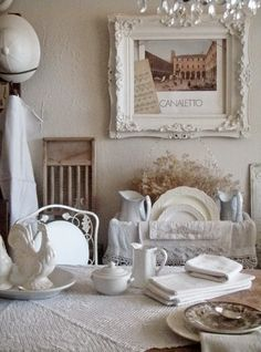 . . . Cabin & Cottage : Setting A Cozy French Country Table