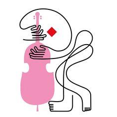 "brandingdong: ""Harvard mag-Pompidou-Jazz festival, illustration by Jonathan Calugi via behance. Jazz Festival, Cleaning Drawing, Music Illustration, Illustration Styles, Simple Illustration, Jazz Art, Music Drawings, Behance, Music Images"