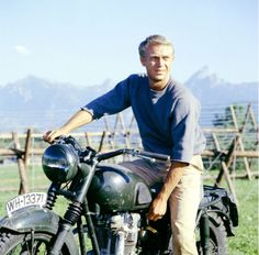 Steve McQueen in 'The Great Escape', 1963