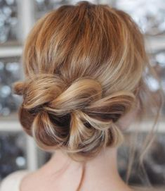 Updo with a chunky braid.