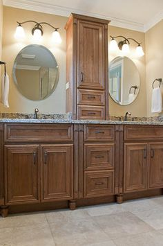 Bath Masters Naperville contemporary oasis in naperville il. double vanity in rift cut