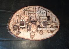 British Antiques wood burning art