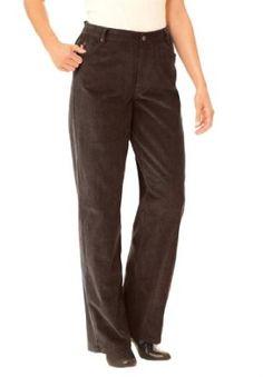 Woman Within Plus Size Corduroy 5-Pocket Pants (Chocolate,20 W) Woman Within. $17.49