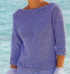 E-mail - Franca Miceli - Outlook Summer Knitting, Hand Knitting, Azul Anil, How To Purl Knit, Casual Summer Dresses, Knitting Designs, Knit Patterns, Crochet Clothes, Knitwear