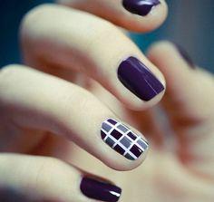 Easy Nail Art Designs Purple