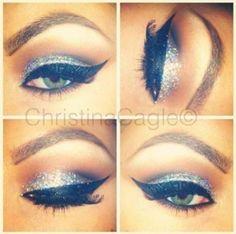 silver glitter eyeshadow