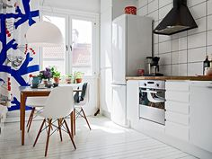 blog de decoração - Arquitrecos: Cortinas coloridas na cozinha. Da pia às janelas!!!