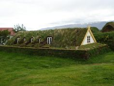 Traditional Turf House in Iceland.  #architecture