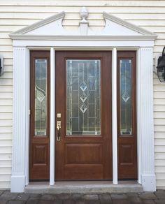 Installed by Chapman Windows, Doors & Siding. Grand Entrance, Wood Crafts, Garage Doors, New Homes, Windows, Church Ideas, Outdoor Decor, Decorating Ideas, Home Decor