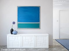 Original Abstract Painting - BLUE and TURQUOISE Textured Modern Contemporary Canvas Art - On the Surface - Large 24 x 24