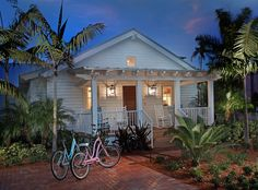 Front Porch Pergola Exterior Tropical with Bark Mulch Bicycles Covered