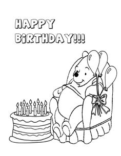 winnie the pooh birthday invitation template http ... - Pooh Bear Coloring Pages Birthday
