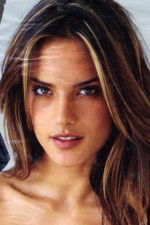 Alessandra ambrosio light brown hair