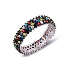 Inel de argint cu pietre multicolore - handmade, Israel. Israel, Bracelets, Jewelry, Fashion, Moda, Jewlery, Bijoux, Fashion Styles, Schmuck