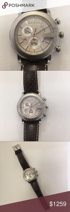 Gucci watch chronoscope leather strap Gucci watch chronoscope leather strap. Gently used Gucci Accessories Watches